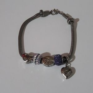 Never worn! Connections by Hallmark Charm Bracelet